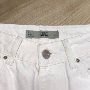 Topshop Jeans - Topshop Moto White Mom Jeans Size 26